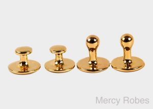 CLERGY COLLAR POLISHED STUDS SET PART # SUBS304 G (GOLD)