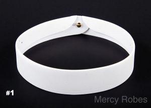 NEW MERCY ROBES SOFT CLERGY COLLAR (PONTIFF COLLAR)