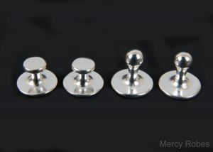 CLERGY COLLAR POLISHED STUDS SET PART # SUBS304 S (STAINLESS STEEL)
